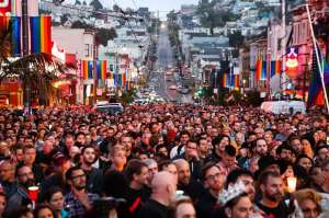 This vigil took place in the Castro in SF the evening after the shooting.